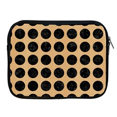 Circles1 Black Marble & Natural White Birch Wood (r) Apple Ipad 2/3/4 Zipper Cases by trendistuff