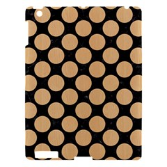 Circles2 Black Marble & Natural White Birch Wood Apple Ipad 3/4 Hardshell Case by trendistuff