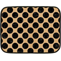 Circles2 Black Marble & Natural White Birch Wood (r) Double Sided Fleece Blanket (mini)  by trendistuff