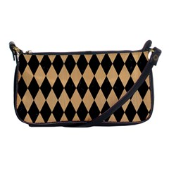 Diamond1 Black Marble & Natural White Birch Wood Shoulder Clutch Bags by trendistuff