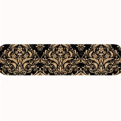 Damask1 Black Marble & Natural White Birch Wood Large Bar Mats by trendistuff