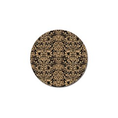 Damask2 Black Marble & Natural White Birch Wood Golf Ball Marker (10 Pack)