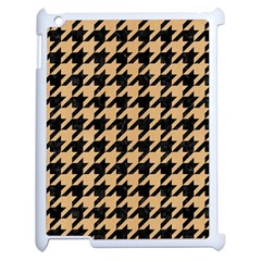 Houndstooth1 Black Marble & Natural White Birch Wood Apple Ipad 2 Case (white) by trendistuff