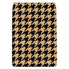 Houndstooth1 Black Marble & Natural White Birch Wood Flap Covers (l)  by trendistuff