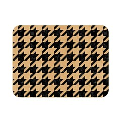 Houndstooth1 Black Marble & Natural White Birch Wood Double Sided Flano Blanket (mini)  by trendistuff