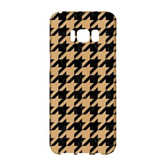 Houndstooth1 Black Marble & Natural White Birch Wood Samsung Galaxy S8 Hardshell Case  by trendistuff