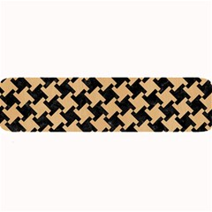 Houndstooth2 Black Marble & Natural White Birch Wood Large Bar Mats