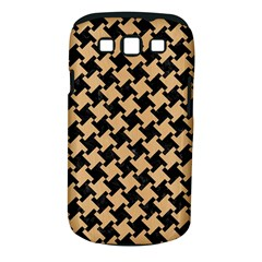 Houndstooth2 Black Marble & Natural White Birch Wood Samsung Galaxy S Iii Classic Hardshell Case (pc+silicone) by trendistuff