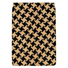 Houndstooth2 Black Marble & Natural White Birch Wood Flap Covers (l)