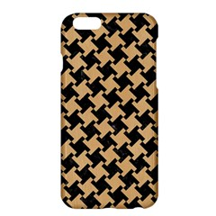 Houndstooth2 Black Marble & Natural White Birch Wood Apple Iphone 6 Plus/6s Plus Hardshell Case by trendistuff