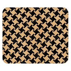 Houndstooth2 Black Marble & Natural White Birch Wood Double Sided Flano Blanket (small)  by trendistuff
