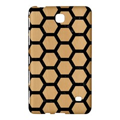 Hexagon2 Black Marble & Natural White Birch Wood (r) Samsung Galaxy Tab 4 (8 ) Hardshell Case  by trendistuff