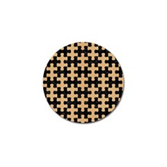 Puzzle1 Black Marble & Natural White Birch Wood Golf Ball Marker (10 Pack)