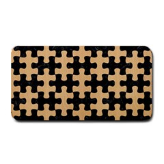 Puzzle1 Black Marble & Natural White Birch Wood Medium Bar Mats by trendistuff