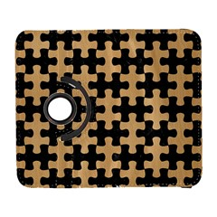 Puzzle1 Black Marble & Natural White Birch Wood Galaxy S3 (flip/folio) by trendistuff