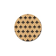 Royal1 Black Marble & Natural White Birch Wood Golf Ball Marker by trendistuff