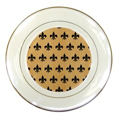 Royal1 Black Marble & Natural White Birch Wood Porcelain Plates by trendistuff