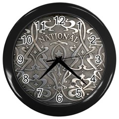 Art Nouveau Silver Wall Clocks (black) by 8fugoso