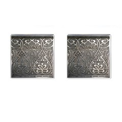 Art Nouveau Silver Cufflinks (square) by 8fugoso