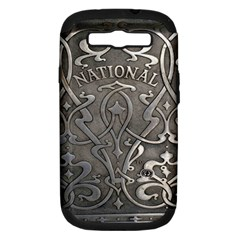 Art Nouveau Silver Samsung Galaxy S Iii Hardshell Case (pc+silicone) by 8fugoso