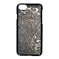 Art Nouveau Silver Apple Iphone 7 Seamless Case (black) by 8fugoso