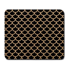 Scales1 Black Marble & Natural White Birch Wood Large Mousepads by trendistuff