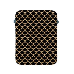 Scales1 Black Marble & Natural White Birch Wood Apple Ipad 2/3/4 Protective Soft Cases by trendistuff