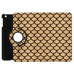 Scales1 Black Marble & Natural White Birch Wood (r) Apple Ipad Mini Flip 360 Case by trendistuff