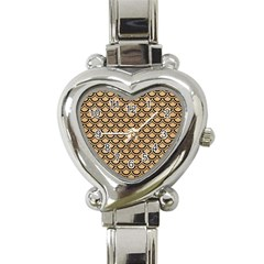 Scales2 Black Marble & Natural White Birch Wood (r) Heart Italian Charm Watch by trendistuff