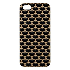 Scales3 Black Marble & Natural White Birch Wood Iphone 5s/ Se Premium Hardshell Case by trendistuff