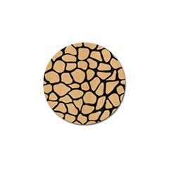 Skin1 Black Marble & Natural White Birch Wood Golf Ball Marker by trendistuff