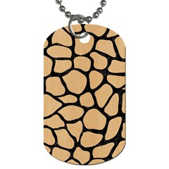 Skin1 Black Marble & Natural White Birch Wood Dog Tag (two Sides) by trendistuff