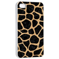 Skin1 Black Marble & Natural White Birch Wood (r) Apple Iphone 4/4s Seamless Case (white)