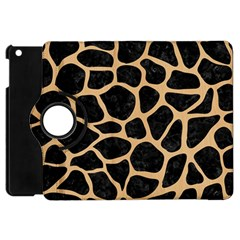 Skin1 Black Marble & Natural White Birch Wood (r) Apple Ipad Mini Flip 360 Case by trendistuff