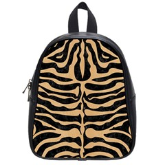 Skin2 Black Marble & Natural White Birch Wood School Bag (small) by trendistuff