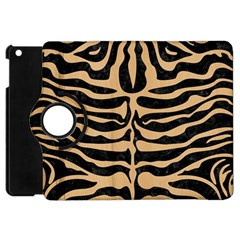 Skin2 Black Marble & Natural White Birch Wood Apple Ipad Mini Flip 360 Case by trendistuff