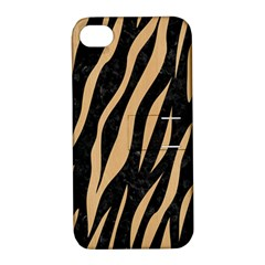 Skin3 Black Marble & Natural White Birch Wood Apple Iphone 4/4s Hardshell Case With Stand by trendistuff