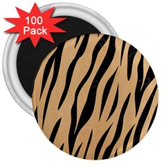 Skin3 Black Marble & Natural White Birch Wood (r) 3  Magnets (100 Pack)