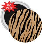 SKIN3 BLACK MARBLE & NATURAL WHITE BIRCH WOOD (R) 3  Magnets (100 pack) Front