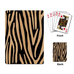 Skin4 Black Marble & Natural White Birch Wood (r) Playing Card by trendistuff