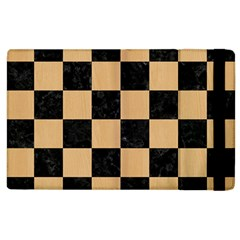 Square1 Black Marble & Natural White Birch Wood Apple Ipad 2 Flip Case by trendistuff