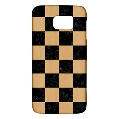 Square1 Black Marble & Natural White Birch Wood Galaxy S6 by trendistuff
