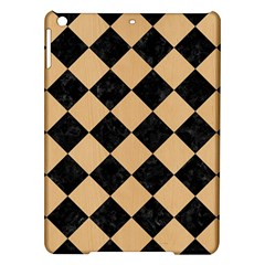Square2 Black Marble & Natural White Birch Wood Ipad Air Hardshell Cases by trendistuff