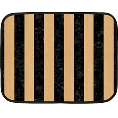 Stripes1 Black Marble & Natural White Birch Wood Double Sided Fleece Blanket (mini)  by trendistuff