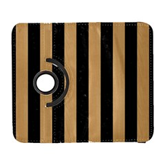 Stripes1 Black Marble & Natural White Birch Wood Galaxy S3 (flip/folio) by trendistuff