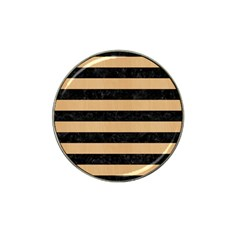 Stripes2 Black Marble & Natural White Birch Wood Hat Clip Ball Marker (4 Pack) by trendistuff