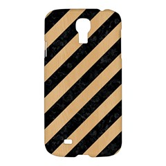 Stripes3 Black Marble & Natural White Birch Wood Samsung Galaxy S4 I9500/i9505 Hardshell Case by trendistuff