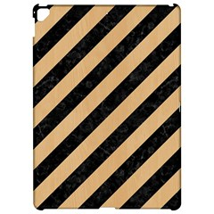 Stripes3 Black Marble & Natural White Birch Wood Apple Ipad Pro 12 9   Hardshell Case by trendistuff