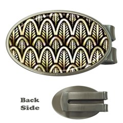 Art Deco Gold Black Shell Pattern Money Clips (oval)  by 8fugoso
