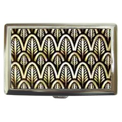 Art Deco Gold Black Shell Pattern Cigarette Money Cases by 8fugoso
